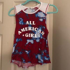 """Patriotic """"All American Girl"""" tank top"""
